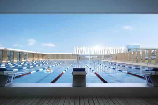 illuminens | perspective architecture 3D | image architecture | centre aquatique amiens