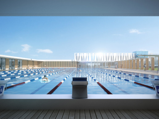 illuminens | perspective architecture 3D | image architecture | centre aquatique amiens | bvl architecture
