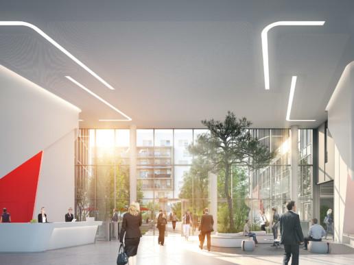 illuminens | perspective architecture 3D | image architecture | immeuble bureaux osmose arcueil | arte charpentier
