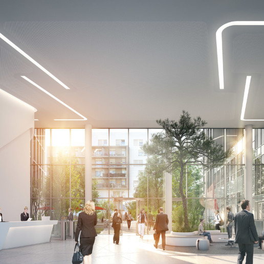 illuminens | perspective architecture 3D | image architecture | immeuble bureaux osmose arcueil