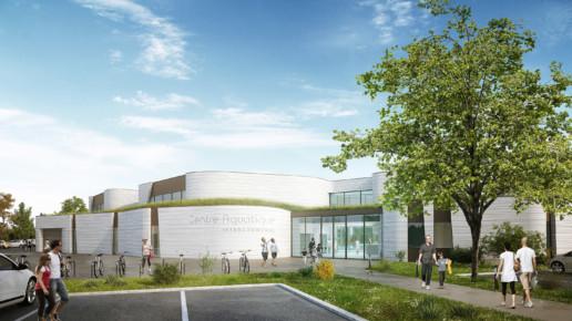 illuminens | perspective architecture 3D | image architecture | centre aquatique belbeuf | coste architectures
