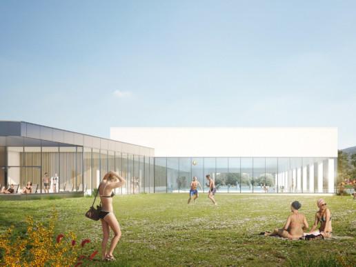 illuminens | perspective architecture 3D | image architecture | centre aquatique bugey sud | bvl architecture