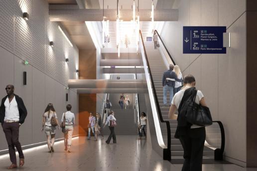 illuminens | perspective architecture 3D | image architecture | gare de clamart | grand paris express | arep