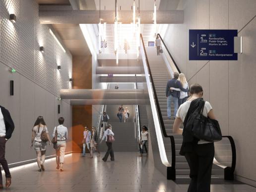illuminens   perspective architecture 3D   image architecture   gare de clamart   grand paris express   arep