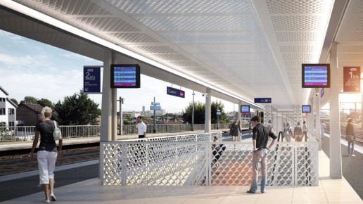illuminens | perspective architecture 3D | image architecture | gare de clamart | grand paris express | arep