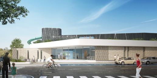 illuminens | perspective architecture 3D | image architecture | centre aquatique coudekerque | coste architectures
