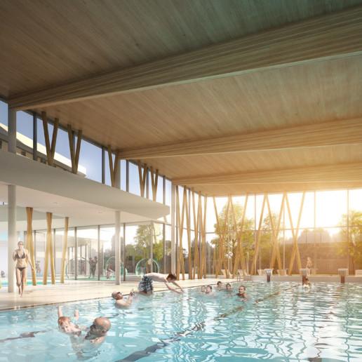 illuminens | perspective architecture 3D | image architecture | centre aquatique coudekerque