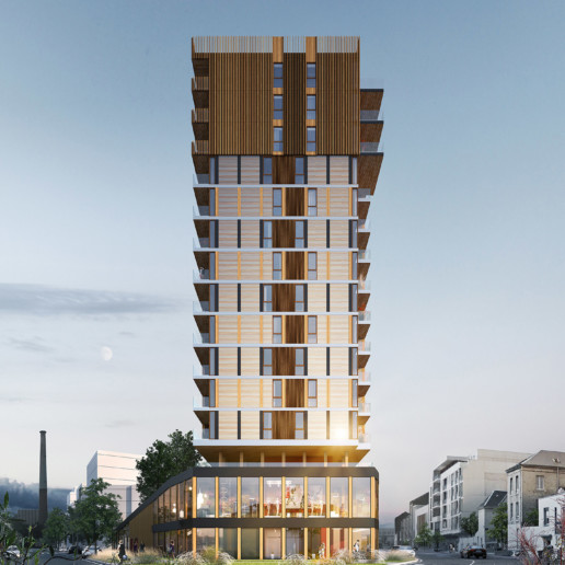 illuminens | perspective architecture 3D | image architecture | tour signal le havre | le havre wood up