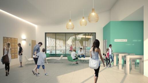 illuminens | perspective architecture 3D | image architecture | centre aquatique mauges-sur-loire | coste architectures