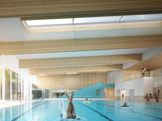 illuminens | perspective architecture 3D | image architecture | centre aquatique castalia | coste architectures