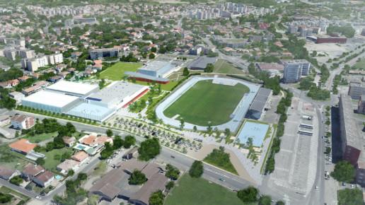 illuminens | perspective architecture 3D | image architecture | complexe sportif georges pompidou montauban | bvl architecture