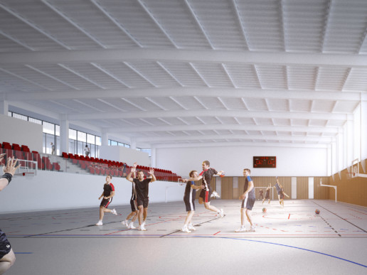 illuminens | perspective architecture 3D | image architecture | complexe sportif georges pompidou montauban